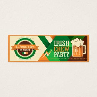 St Patrick Tagesirisches Kleeblatt-Party Mini-Visitenkarten