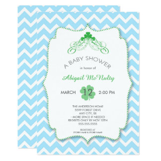 St Patrick Tagesjungen-Babyparty lädt ein Karte