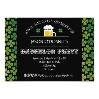 St Patrick Tagesjunggeselle-Party Einladung