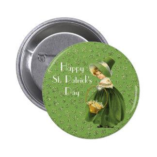 St Patrick Tagesklee-Blatt-Knopf Runder Button 5,7 Cm