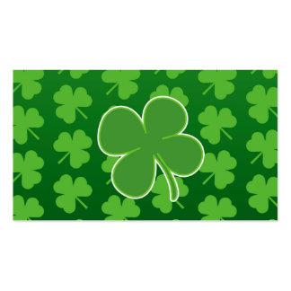 St Patrick Tagesklee-Blatt-Visitenkarten