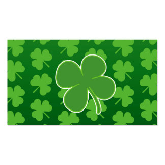 St Patrick Tagesklee-Blatt-Visitenkarten Visitenkarten