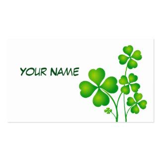 St Patrick Tagesklee/-Kleeblätter + Ihre Ideen Visitenkarten