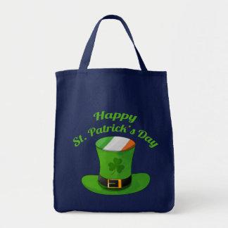 St Patrick Tageskobold-Hut u. Kleeblatt-Klee Einkaufstasche