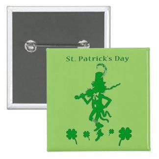 St Patrick Tageskobold-Knopf Quadratischer Button 5,1 Cm