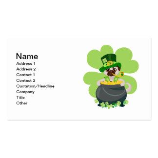 St Patrick TagesMops - personifizieren Sie Visitenkarten