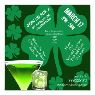 St Patrick TagesParty Einladung