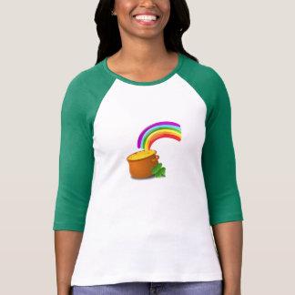 St Patrick Tagesregenbogen und -Goldschatz T-Shirt