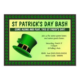 St Patrick Tagesschlag-Hut-Einladung Karte