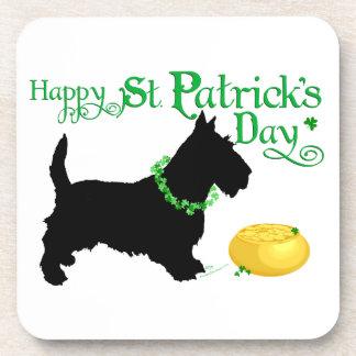 St Patrick TagesScottish Terrier Getränkeuntersetzer