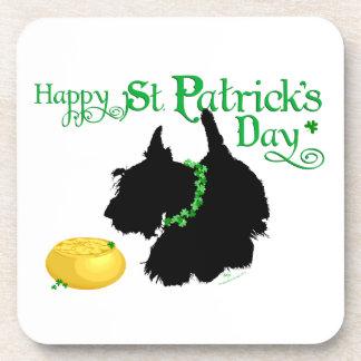 St Patrick TagesScottish Terrier Untersetzer