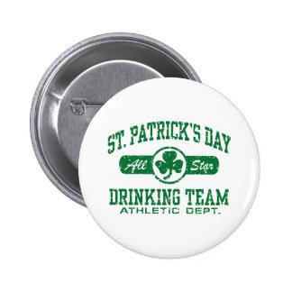 St Patrick Tagestrinkendes Team Runder Button 5,7 Cm