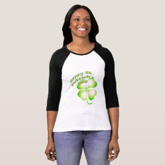 St Patrick Tagesvierblättriges Kleeblatt T-Shirt