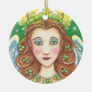 St Patrick Tagirische ENGELS-WEIHNACHTSverzierung Keramik Ornament