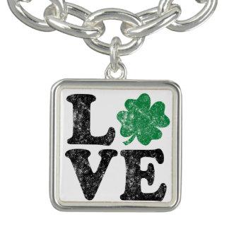 St Patrick TagLiebe Kleeblatt-Iren Armband