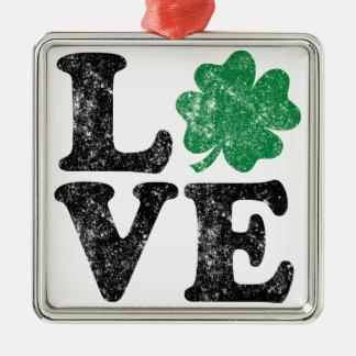 St Patrick TagLiebe Kleeblatt-Iren Silbernes Ornament