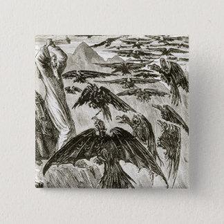 St Patrick und die Dämonvögel, 'von der Trias T Quadratischer Button 5,1 Cm