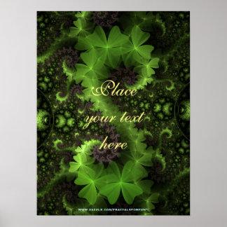 St- Patrickklee-Hintergrund Poster