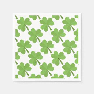 St- PatrickKleeblatt-Iren-Irland-Klee-Muster Serviette