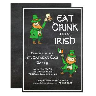 Kissen Essen Trinken und Sein Irisch st Patricks Tag Irisches Kleeblatt