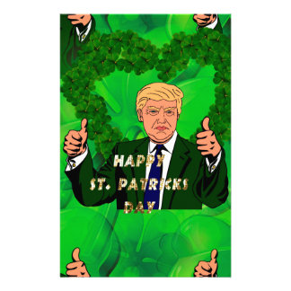 St. patricks Tag Donald Trump Briefpapier