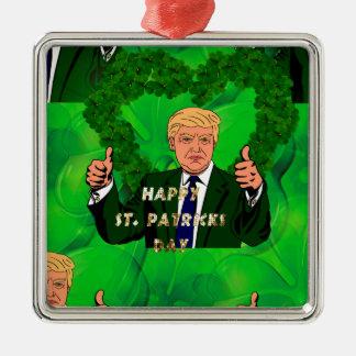 St. patricks Tag Donald Trump Silbernes Ornament