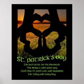 St. Patricks Tagesirisches Handplakat des Poster
