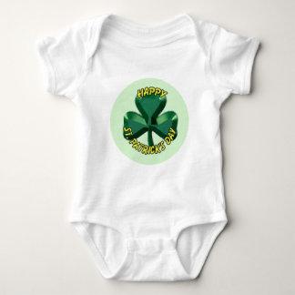 St.Patricks TagesKleeblatt Baby Strampler