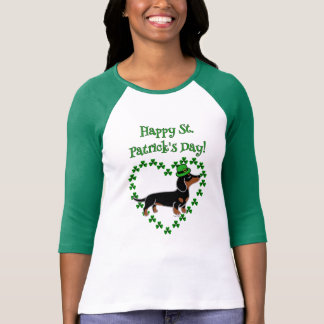 St- PatricktagesDackel-Cartoon-Aufstellung T-Shirt