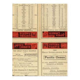 St- Paul, Minneapolis- und Manitoba-Eisenbahn Postkarte