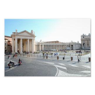 St Peter Basilika und Spalten in der Vatikanstadt. Fotodruck