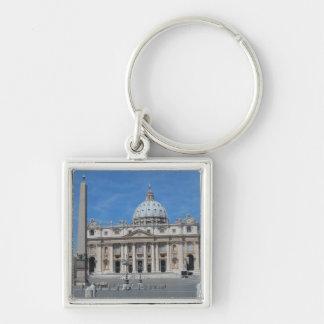 St Peter Basilika-Vatikanstadt Silberfarbener Quadratischer Schlüsselanhänger