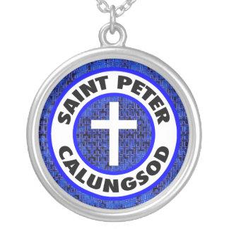 St Peter Calungsod Versilberte Kette