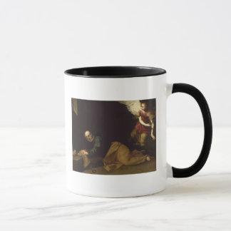 St Peter gab durch einen Engel, 1639 frei Tasse
