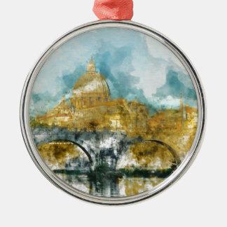 St Peter in der Vatikanstadt Rom Italien Silbernes Ornament