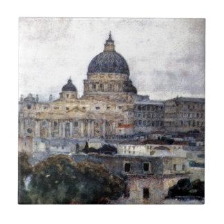 St Peter Kathedrale in Rom durch Vasily Surikov Keramikfliese