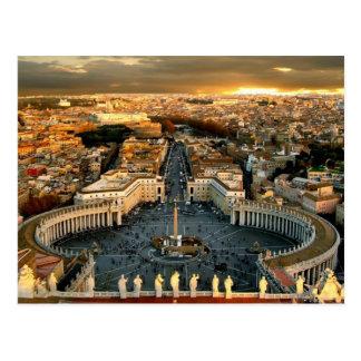 St Peter quadratischer Vatikan Postkarte