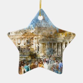 St- Petersbasilika Vatikan in Rom Italien Keramik Ornament