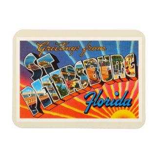 St Petersburg Florida Vintage Reise-Andenken Flexibler Magnet
