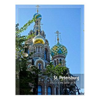 St. Petersburg, Kirche des Retters auf Blut-Posten Postkarte