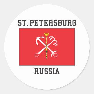 St Petersburg Runder Aufkleber