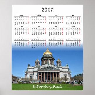 St Petersburg, Russland. Kalender 2017 Poster
