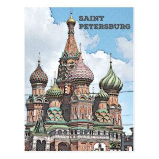 St Petersburg, Russland Postkarte