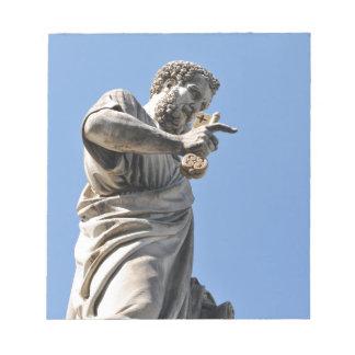 St- Peterstatue in Rom, Italien Notizblock