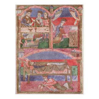 St. Radegund am Tisch von Clothar I Postkarte