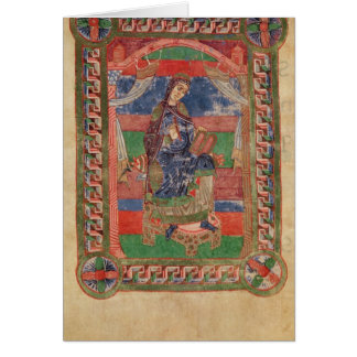 St. Radegund auf einem Thron Karte