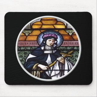 St. Rose von Lima - beten Sie für uns-beflecktes G Mousepad