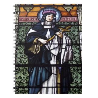 St. Rose von Lima - beten Sie für uns-beflecktes G Notizblock