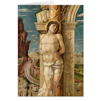 St. Sebastian durch Andrea Mantegna Grußkarte