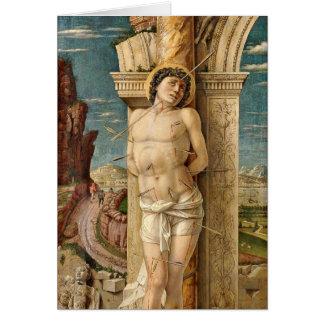 St. Sebastian durch Andrea Mantegna Karte